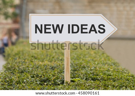 new ideas signpost - stock photo