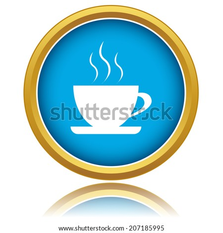 New illustration of isolated coffee icon - stock photo