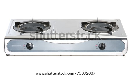 New infrared gas stove for your kitchen - stock photo