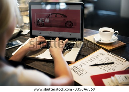 New Innovation Technology Car Homepage Concept - stock photo