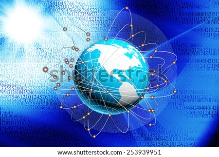 New innovative Internet technologies.Connection Concept - stock photo