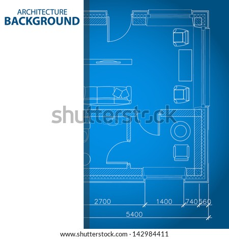 New interesting architectural background in unique style - stock photo