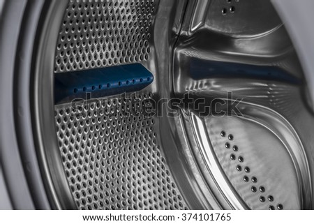 New isolated washing machine on a white background