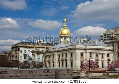 New Jersey's State House capitol in Trenton. - stock photo