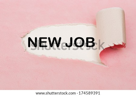 New Job creative concept - stock photo