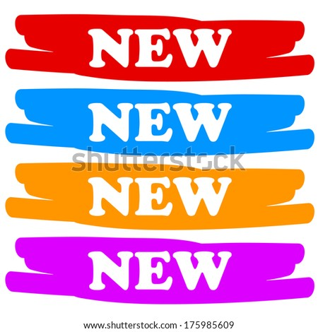 New labels on a white background - stock photo