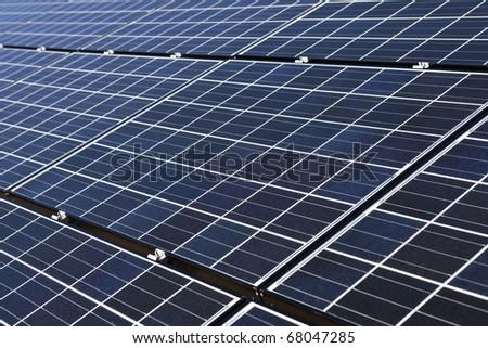 New large solar array in Nevada's mojave desert. - stock photo