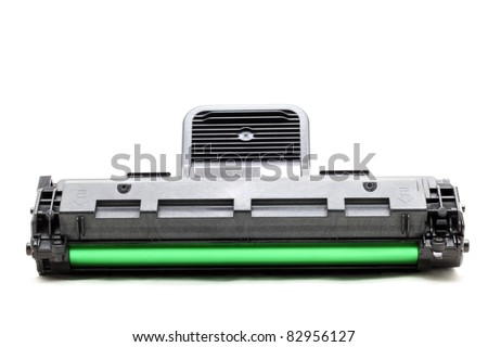 new laser printer cartridge isolated on white background