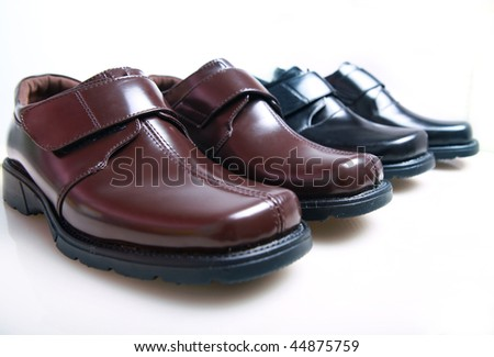 new leather shoes - stock photo