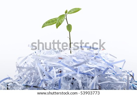 New Life concept with recycle - stock photo