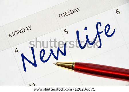 New life note in the agenda