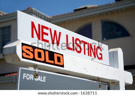 New listing sold sign - stock photo