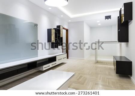 New living room interior - stock photo