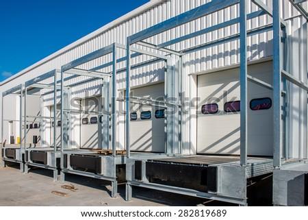 New loading dock under construction - stock photo