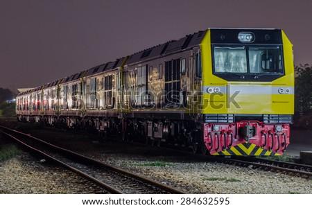 New locomotive The State Railway of Thailand - stock photo