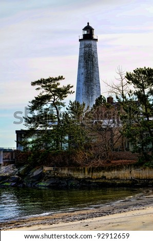 New London Lighthouse, New London, Connecticut - stock photo