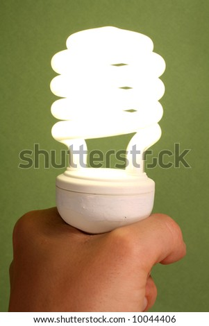New Low Energy Light Bulb - stock photo