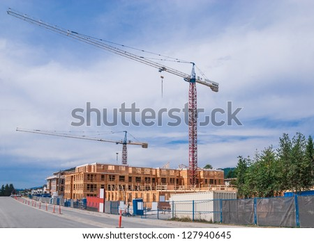 New low rise building construction. - stock photo