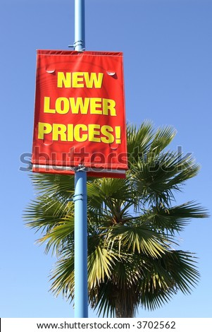 New lower prices sign