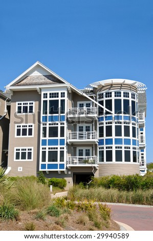New Luxurious Beach Condos - stock photo