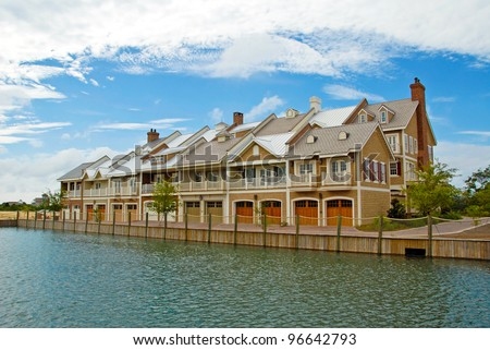 New Luxurious Townhouses - stock photo