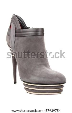 New luxury woman fashion boot - stock photo