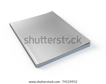 New Magazine with blank cover template - stock photo