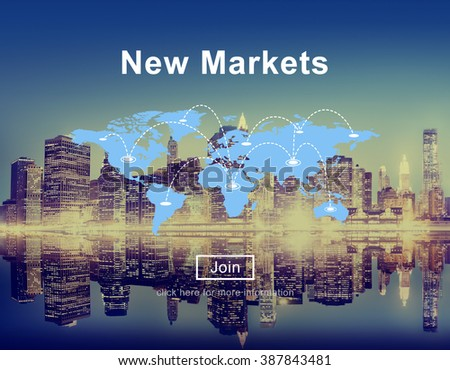 New Markets Commerce Selling Global Business Marketing Concept