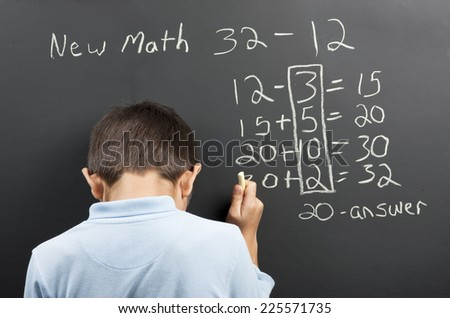 New math frustration. - stock photo