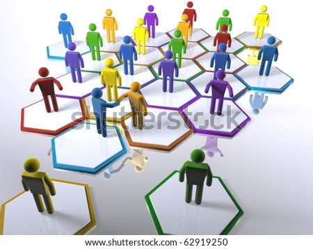 New members intergrating into the team - emphasis on diversity - stock photo