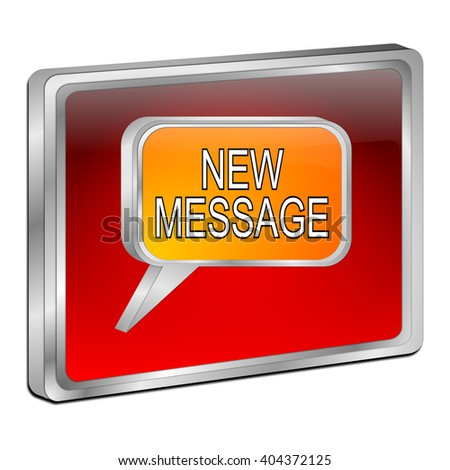 new Message Button - stock photo
