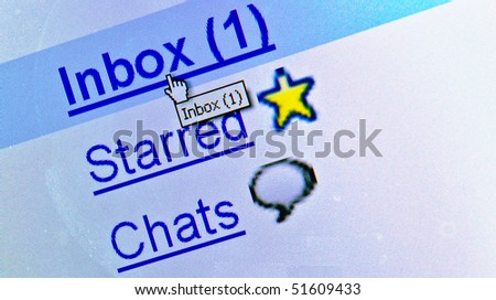 New message in email box - stock photo