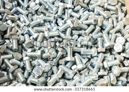 New metal bolts - stock photo