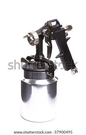 New metal brilliant Spray gun - stock photo