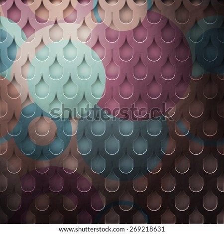 new metal grid with tiled cells and colored surface - stock photo
