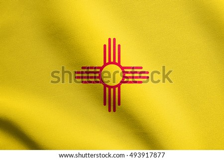 New Mexican Official Flag Symbol American Stock Illustration