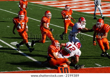 New Mexico State High School Football Championship Playoffs. Roswell Coyotes vs. Artesia Bulldogs, November 18, 2006. - stock photo