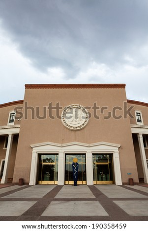 New Mexico State House and Capitol Building in Santa Fe - stock photo