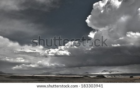 New Mexico Storm Front - stock photo