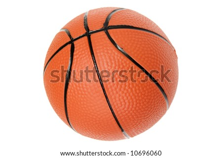New mini basketball /w clipping path