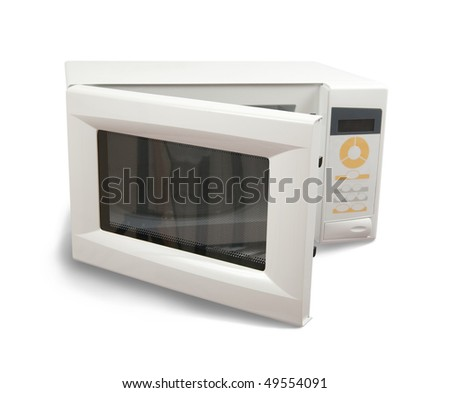 New mini oven. Isolated on white background - stock photo
