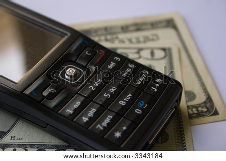 new mobile phone and money