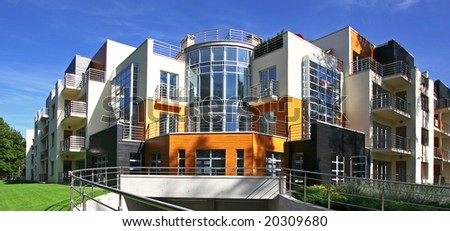 New modern apartments - stock photo