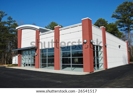 New Modern Commercial Building - stock photo