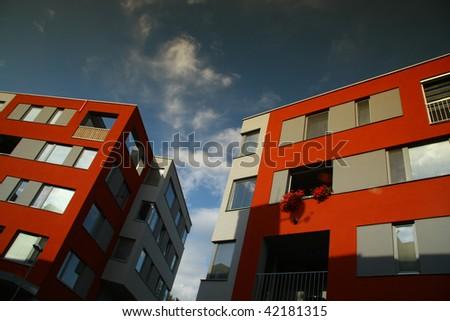 New modern flats - stock photo