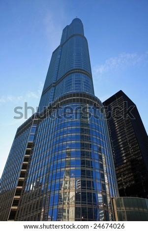New modern Hotel and condominium in downtown Chicago - stock photo