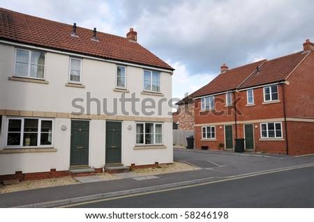New Modern Housing - stock photo