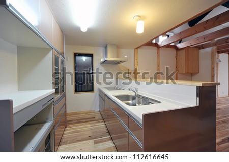 New modern kitchen interior 1-4 - stock photo