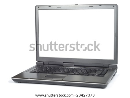 New modern laptop isolated with clipping path over white