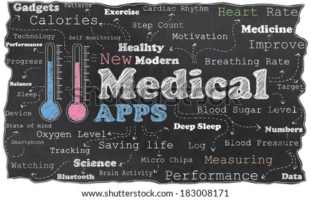 New Modern Medical Revolution on Blackboard with Clipping Path - stock photo